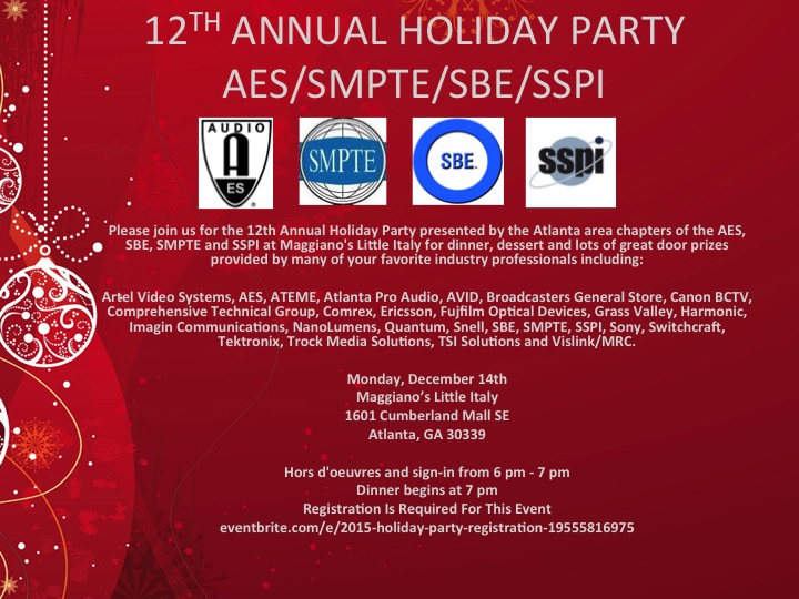 12TH ANNUAL HOLIDAY PARTY FLYER